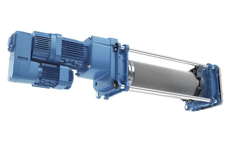 The DMR modular rope hoist in co-axial design